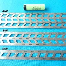 1 KG lityum pil saf nikel şerit, 2 W 3 W 4 W 18650 pil paketi, cep aralığı 18.5mm, W tipi nikel bara