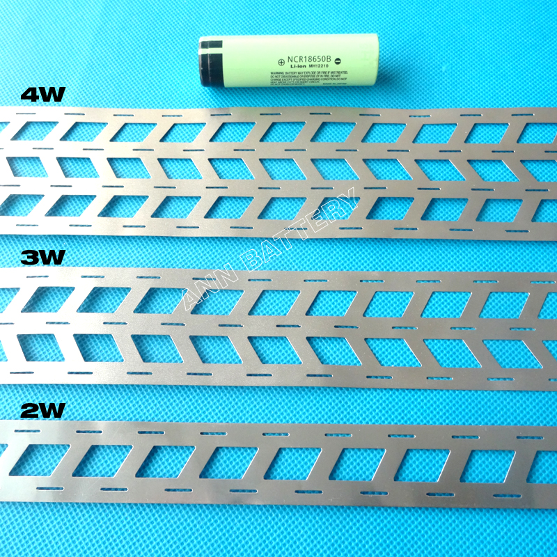 1KG lithium battery pure nickel strip, 2W 3W 4W For 18650 battery pack, cell spacing 18.5mm, W type nickel busbar-in Battery Accessories from Consumer Electronics