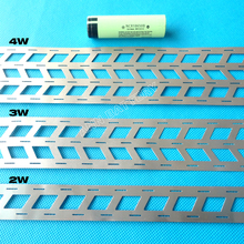 1KG lithium battery pure nickel strip, 2W 3W 4W For 18650 battery pack, cell spacing 18.5mm, W type nickel busbar