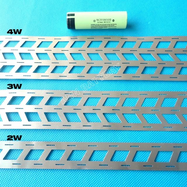 Tira de níquel puro de batería de litio de 1KG, 2W 3W 4W para paquete de batería 18650, espaciado de celdas 18,5mm, barra colectora de níquel tipo W