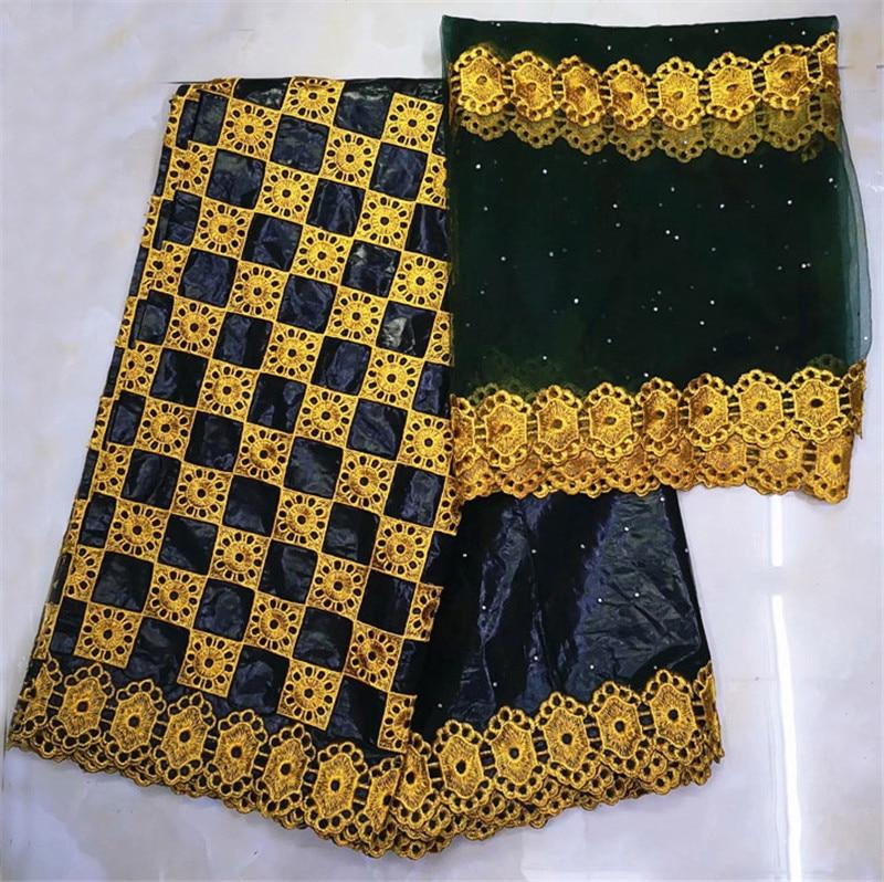 african fabric basin riche getzner bazin brode getzner 2019 dentelle tissu nigerian lace material high quality 7yard/lotYKB 1-in Fabric from Home & Garden    2