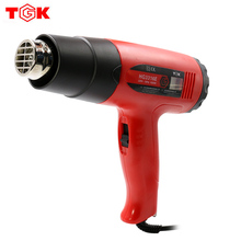 TGK Hot Air Gun 1600W/2000W Electronic Heat Gun Kit LCD Display Dual Temperature Adjustable Options Power Tool with 3 Air Nozzle