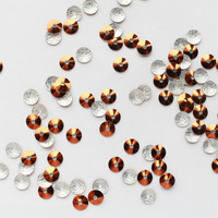 Newest Special colours 3mm 70000pcs/bag Laser sheet strass Nail art Hotfix glitter accessories