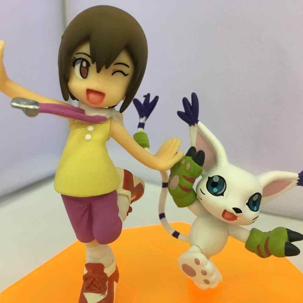 2 stücke Digimon Gatomon Yagami Hikari Tailmon Digitale Abenteuer Figur Spielzeu
