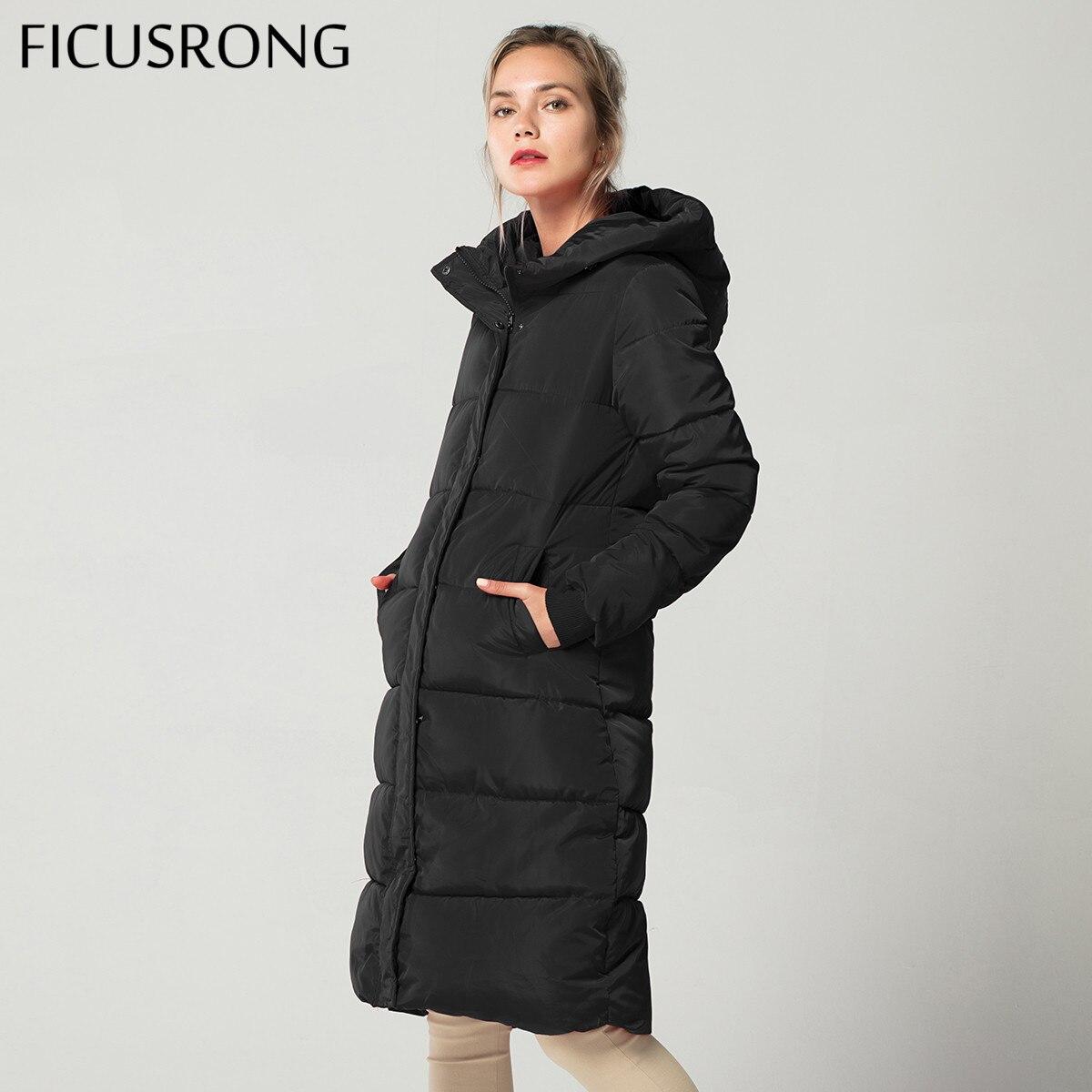 New 2018 Causal Winter   Jacket   Women Thick Warm Coat Female   Basic     Jacket   Women Slim Zipper Hooded Coat Tops Outwear FICUSRONG