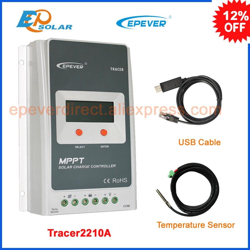 Tracer2210A EPsolar 20A MPPT solar charge controller regulator 12v 24v LCD diplay EPEVER epsolar solar regulator 20a 12v 24v solar charge controller 50v ls2024b with remote meter mt50