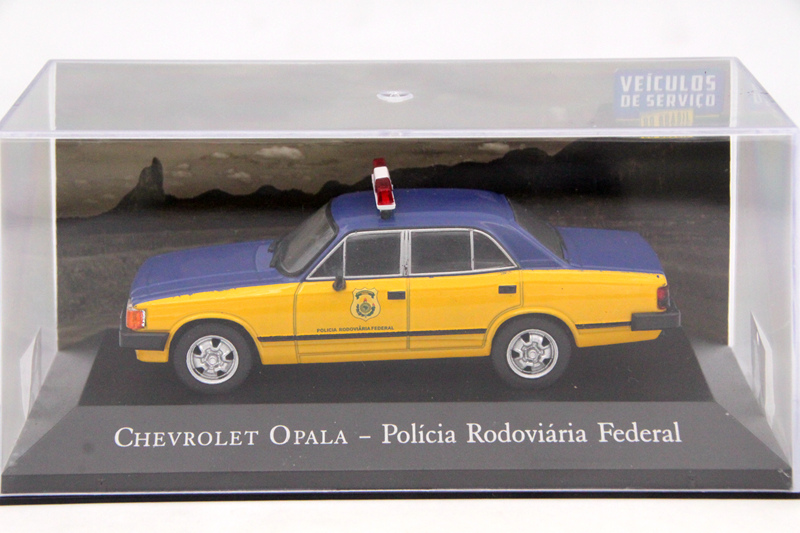 <font><b>IXO</b></font> Altaya <font><b>1:43</b></font> Scale Chevrolet Opala Policia Rodoviaria Federal Toys Car Diecast Models Limited Edition Collection image