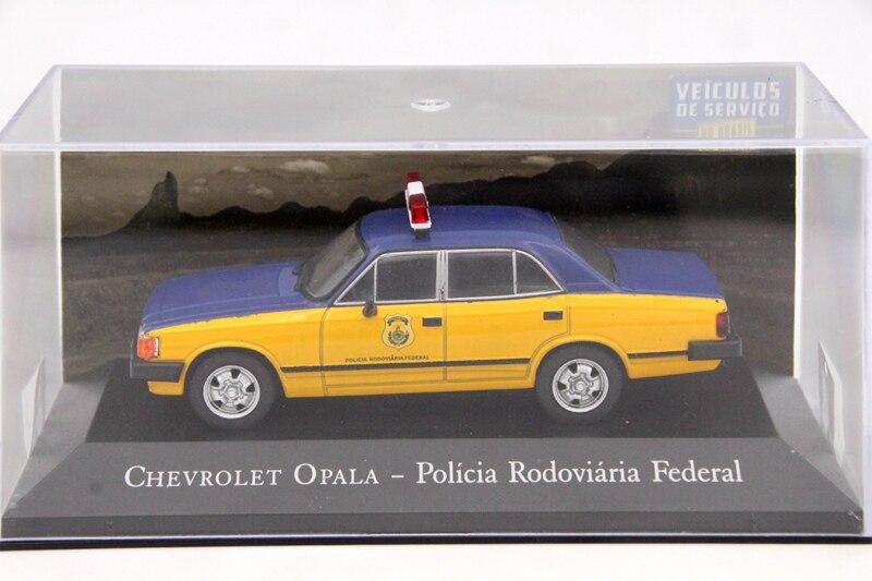 Ixo altaya 143 escala chevrolet opala policia rodoviaria federal brinquedos carro diecast modelos edição limitada coleção