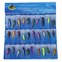 3 Pcs of (30 Pcs Metal Fishing Lure Salmon Baits Bass Trout Fish Hooks)