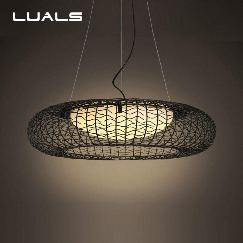 Современный подвесной светильник простой гладить Стекло крышка Подвеска светильника дома Освещение для Гостиная Особенности LED Крытый под