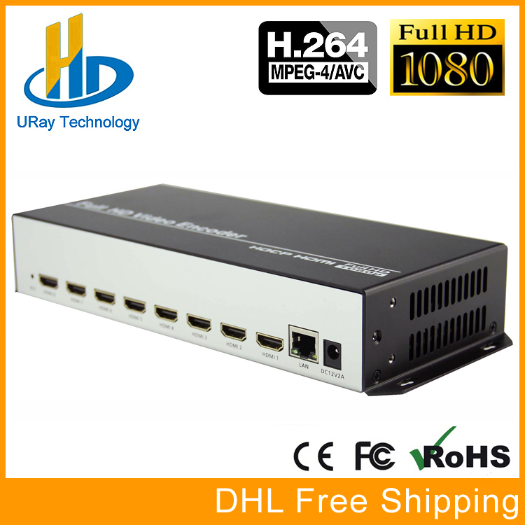 8 In 1 H.264 HDMI To IP Video Encoder IPTV 8 Channels Live Streaming Encoder HD Encoders H264 With UDP HLS RTMP RTSP HTTP ONVIF uray 3g 4g lte hd 3g sdi to ip streaming encoder h 265 h 264 rtmp rtsp udp hls 1080p encoder h265 h264 support fdd tdd for live