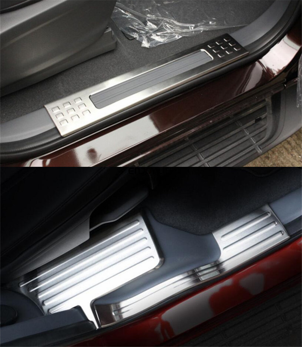 interior car door sill scuff plate cover trim for ford everest 2015 2016 4door suv in chromium. Black Bedroom Furniture Sets. Home Design Ideas