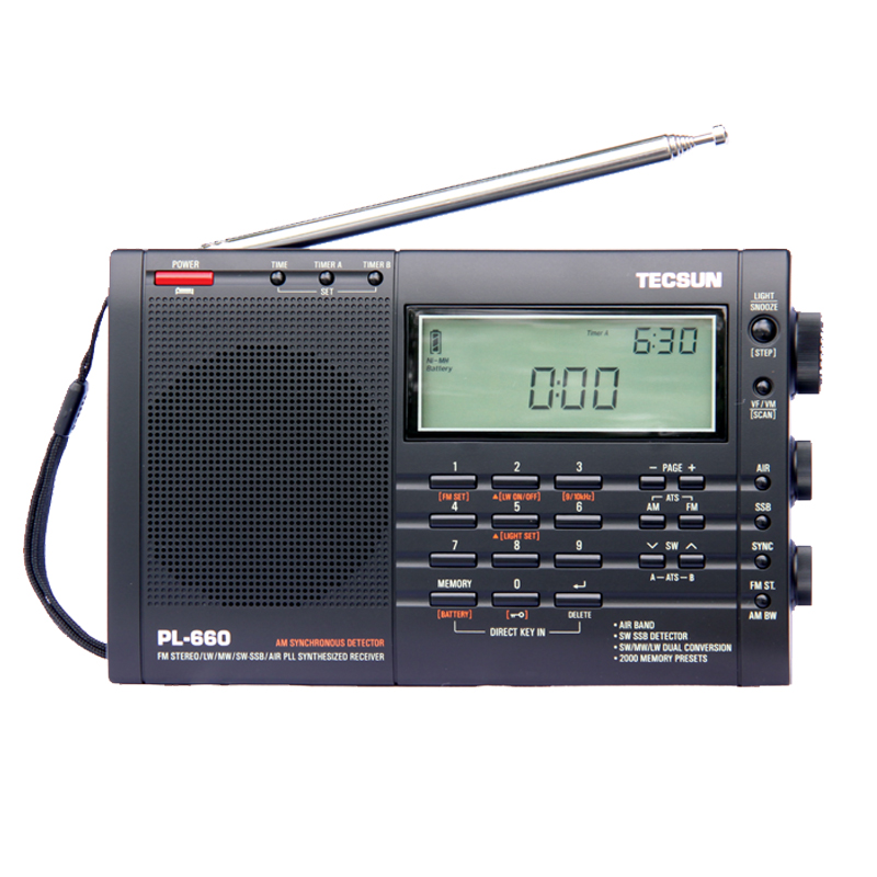 TECSUN PL-660 Radio PLL SSB VHF AIR Band Radio Receiver FM/MW/SW/LW Radio Multiband Dual Conversion TECSUN PL660 old version degen de1103 1 0 ssb pll fm stereo sw mw lw dual conversion digital world band radio receiver de 1103 free shipping