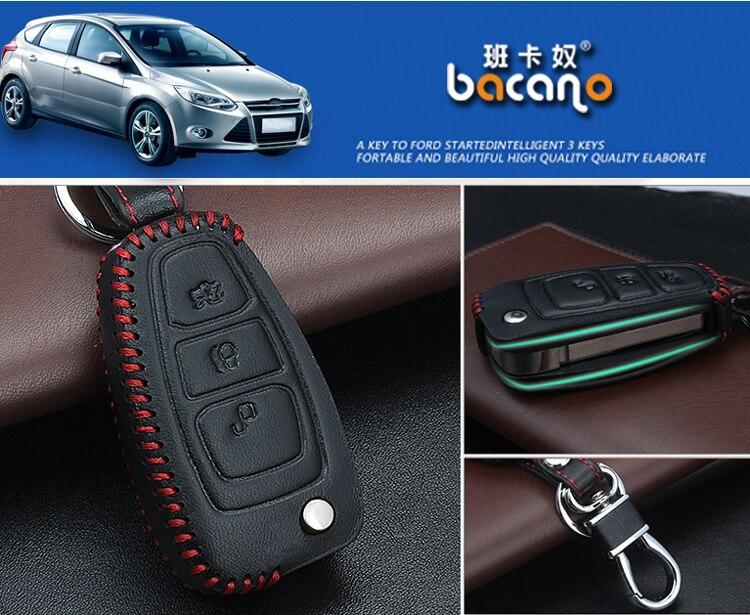 Prawdziwej Skóry Samochodu inteligentny / składany Klucz Case Fob - Akcesoria do wnętrza samochodu - Zdjęcie 4
