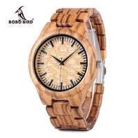 BOBO BIRD L-G23 Drop Shipping Vintage OEM Zebra Wood Watch Men's Gender Handmade Quartz Wooden Wristwatch Custom Logo