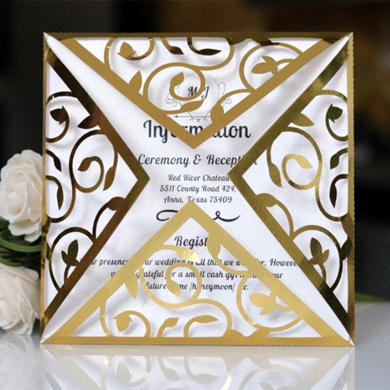 Aliexpress.com : Buy Simple Gold Bug Laser Cut Wedding