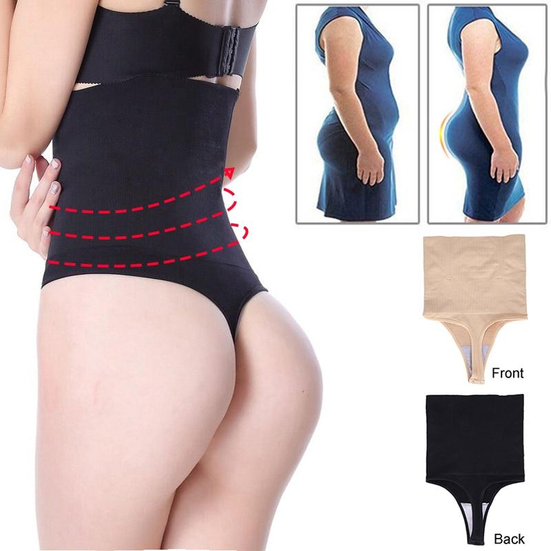 246b8c6dc7cdd8 NINGMI Women Butt Lifter Slimming Tummy Control Panties Wedding Dress G-string  Body Shaper High Waist Trainer ...