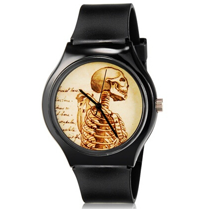 new fashion Willis Mini 5166 women fashion watch Skull Pattern Design Water Resistant Analog Wrist Watch