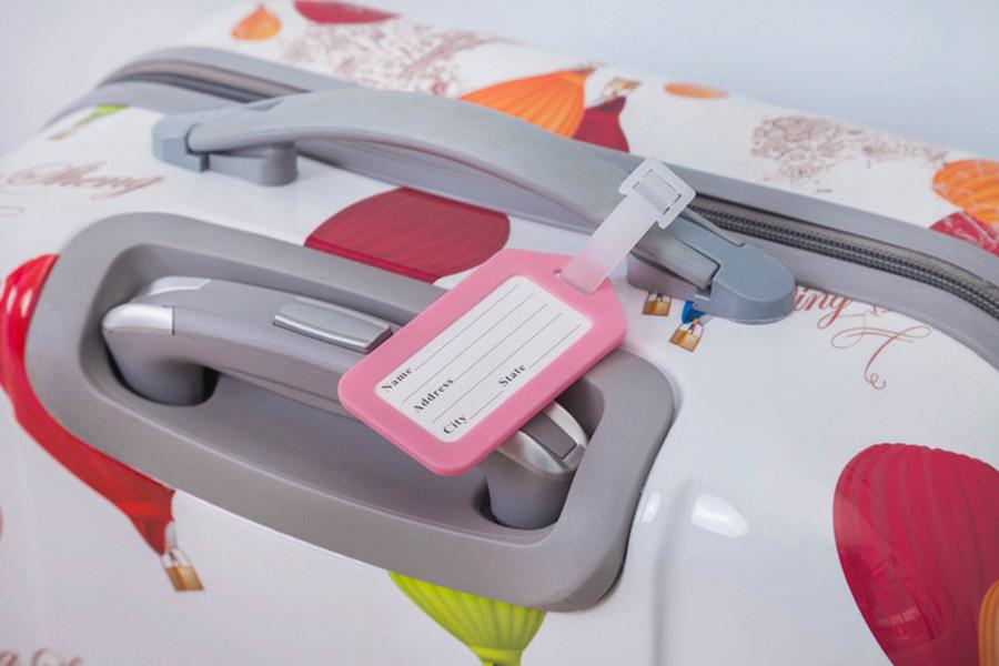 классический пластиковая багажная бирка дорожный чемодан багаж дорожная сумка mixproof ярлык для ручной клади этикетка имя метки адрес удостоверение личности 6 цветов