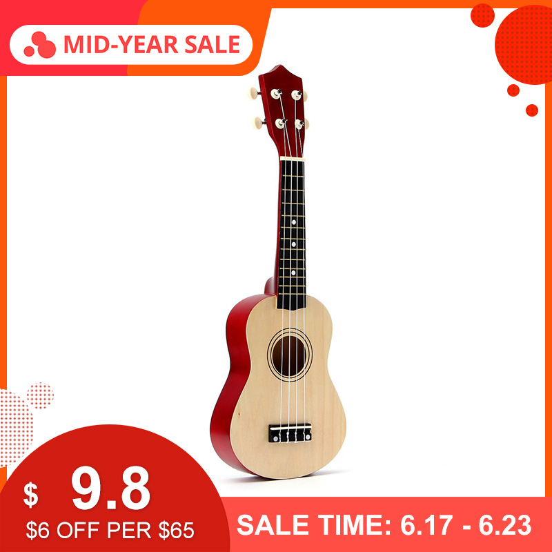 12 Colors 21 Soprano Ukulele Basswood Nylon 4 Strings Guitarra Acoustic Bass Guitar Musical Stringed Instrument for Beginners