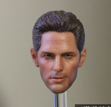 1:6 scale male Figure accessories Paul Rudd Captain America: Civil War Ant-Man head shape carved for 12″ Action figure doll