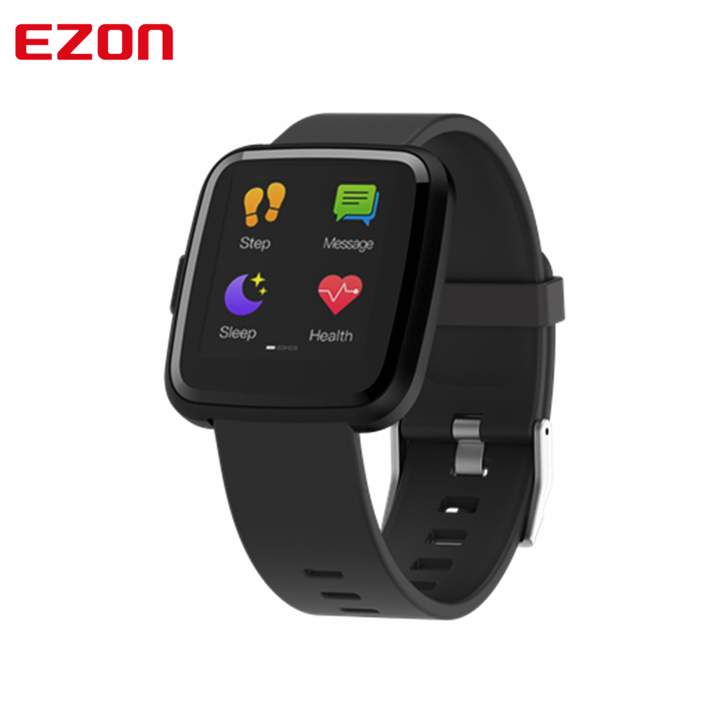 EZON Y7P Bluetooth Smart Watch 1.3 Inch Color Touch Screen Blood Pressure Heart Rate Monitor Pedometer Fitness Bracelet Band-in Digital Watches from Watches    1