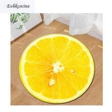 Желтый лимон круглый нескользящий абсорбирующий фруктовый коврик для ванной для гостиной спальни напольный ковер Tapete Infantil