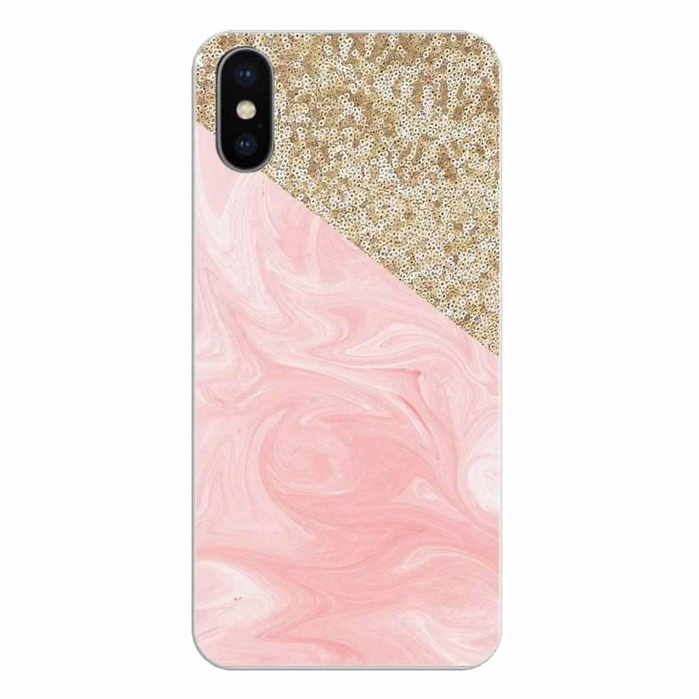 Красивый цвет: розовый, золотистый; роза с блестками для samsung Galaxy S2 S3 S4 S5 мини S6 S7 край S8 S9 Plus Note 2 3 4 5 8 Coque Fundas мягкий чехол