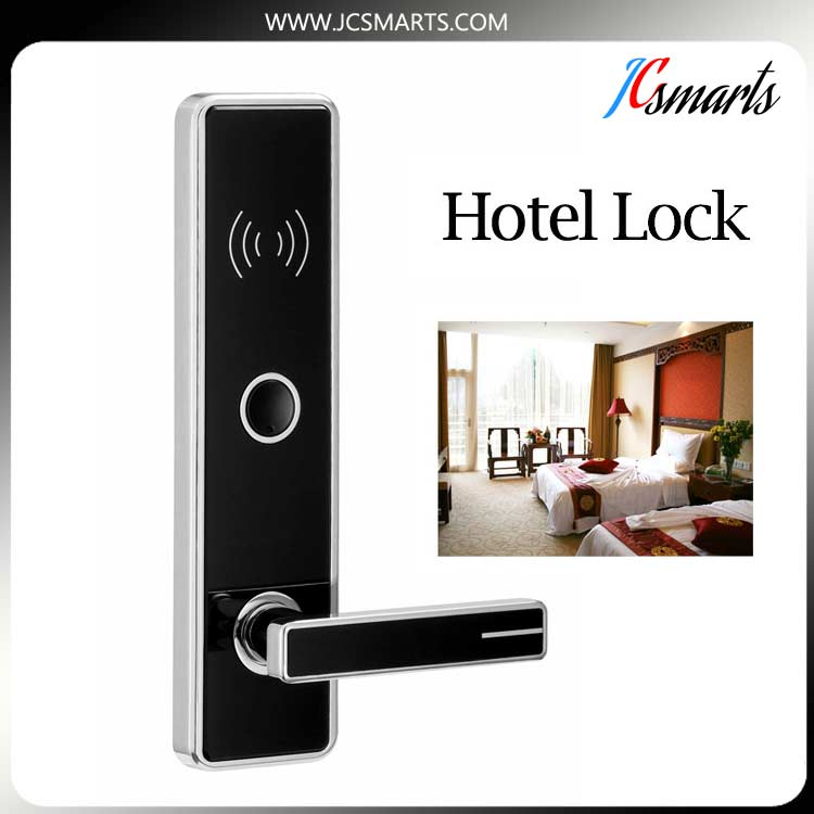 2017 New Hotel electronic door locks Digital electric hotel lock with IC board for hotel office home electronic rfid card door lock with key electric lock for home hotel apartment office latch with deadbolt lk520sg