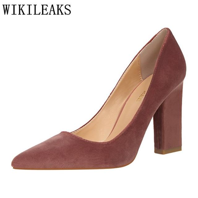 8f829c0b547 Top qualité designer chaussures italiennes fétiche pompes à talons hauts  femmes pompes chaussures femme bigtree chaussures