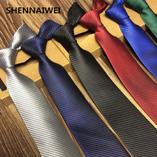 SHENNAIWEI solid 8 cm slim ties men wedding red necktie Fashion black Man Accessories Simplicity For Party Business Formal lot