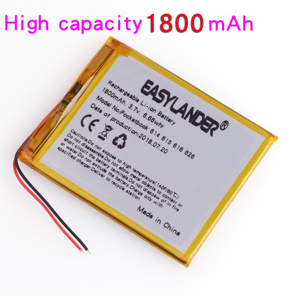 3.7V 1800mAh 4G-15 / 4K-19  Li Polymer Battery For PocketBook 614 615 616 624 626 For Digma E628 R657 R659 Battery Touch Lux 3