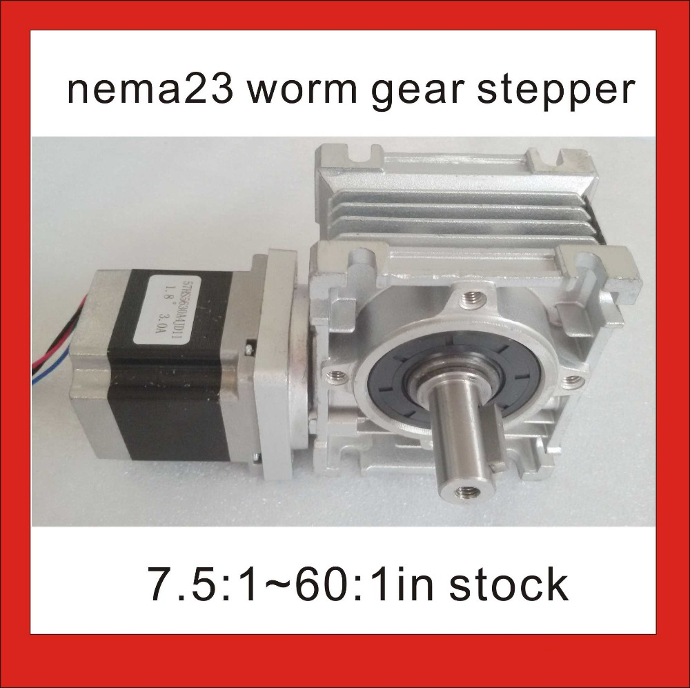 NEMA 23 Worm Gearbox Stepper Motor RV30 Worm Reducer with 56mm NEMA23 Stepper Motor CE ROHS Nema23 Worm Reducer Stepper Motor a stepper motor nema 17 out 0 3nm install with a worm reducer make up a stepper motor deceleration gearbox