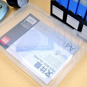 Image 3 - PP פלסטיק ברור תיבת קובץ משרד נייר ארגונית תיבת מסמך עמיד למים מקרה עבור מסמכים