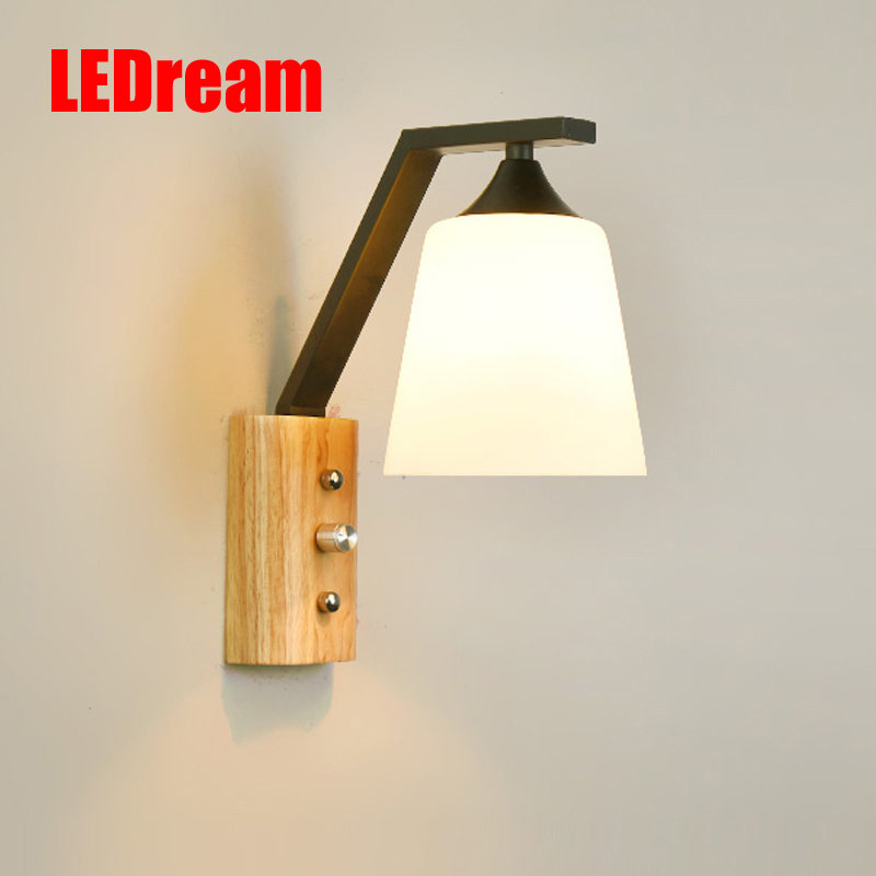 The post-modernism wrought iron  Nordic solid wood bedroom  wall lamp sitting room corridor corridor lightingThe post-modernism wrought iron  Nordic solid wood bedroom  wall lamp sitting room corridor corridor lighting