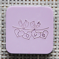 Natural Handmade Soap Seal Stamp Acrylic Mold Chapter
