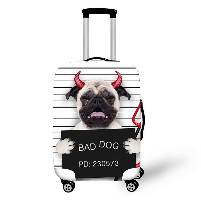 Dog Pattern Thicken Luggage Cover 18-32 Inch Case Suitcase Covers Trolley Baggage Dust Protective Case Cover Travel Accessories