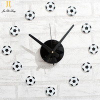 DIY Fun Football Basketball Style Wall Clock Acrylic Material With A High Quality Quartz Movement Clock