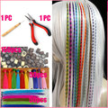 100pcs/lot Feather Hair Extension With Beads Hook Pliers Wholesale Loop Grizzly Solid Zebra Lines Wholesale I Tip Hair Extension