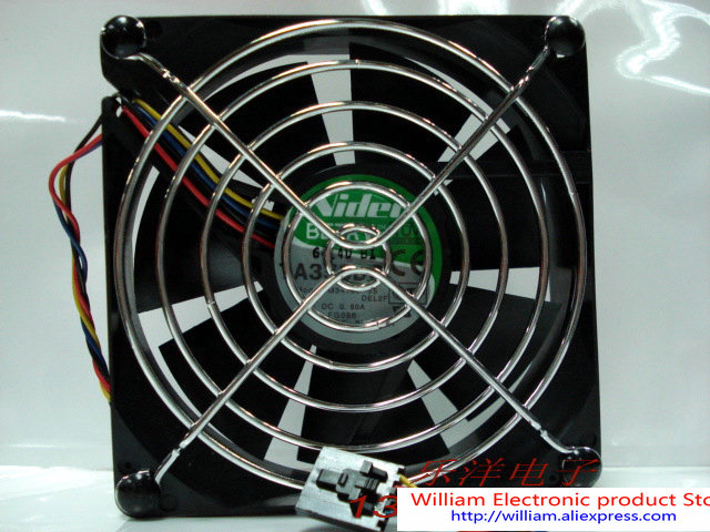 New Original Server fan for DELL FG096 nidec TA350DC M34709-35 0.60A four wire dual ball bearing fan