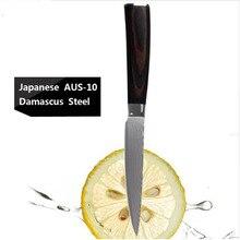 "2016 5"" Stainless Steel Damascus Steel Kitchen Chef Knife multifunctional Janpanese Fruit Vegetables Knives Cleaver Knife"