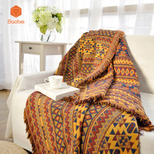 100 Cotton Blanket Sofa towel Sofa Cover decorative slipcover Throws on Sofa Bed Plane Travel Plaids