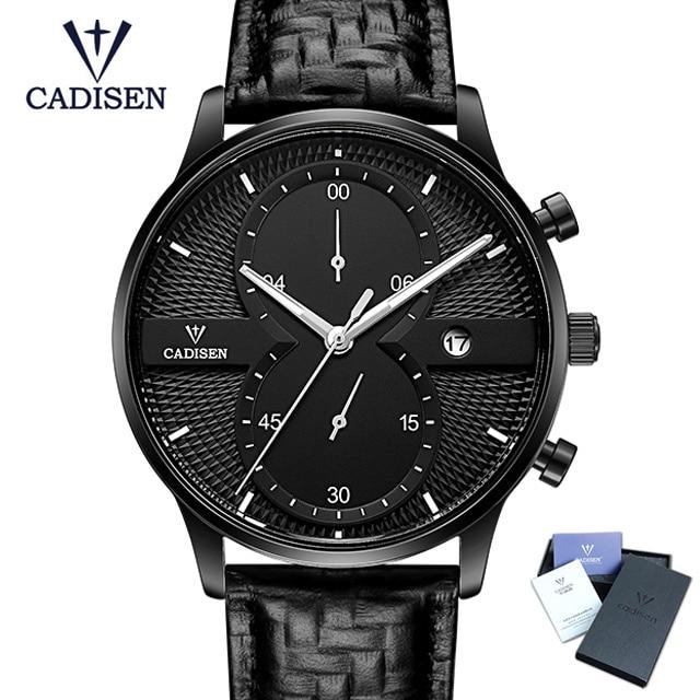 2018 CADISEN Mens Watches Top Brand Luxury Fashion Business Quartz Watch Men Sport Wristwatch Relogio Masculino Montre Homme стоимость