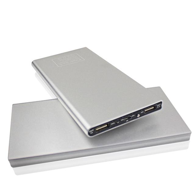 Щепка ультратонкий Power Bank 12000 мАч Металлический Корпус Dual USB Литий-Полимерный Внешняя Батарея Портативное Зарядное Powerbank для все телефон