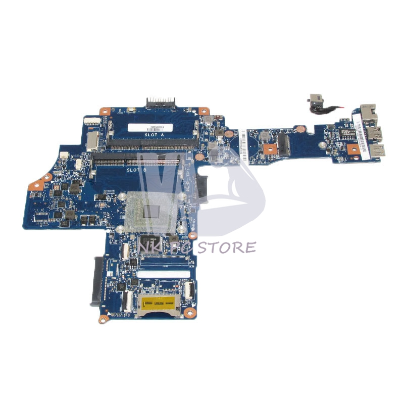 H000078250 Main Board For Toshiba Satellite C40-B Laptop Motherboard EM6010 CPU DDR3 Full tested new h000064160 main board for toshiba satellite nb15 nb15t laptop motherboard n2810 cpu ddr3