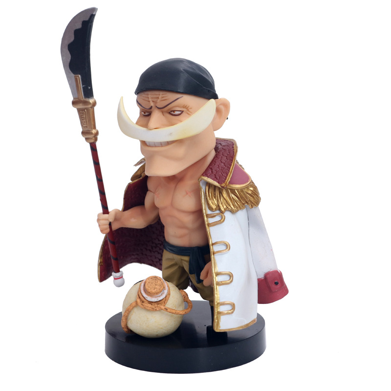 Anime One Piece GK White beard Daddy Edward Newgate with Bobble Head Nendoroid Mini Action Figure Model Toys 15cm