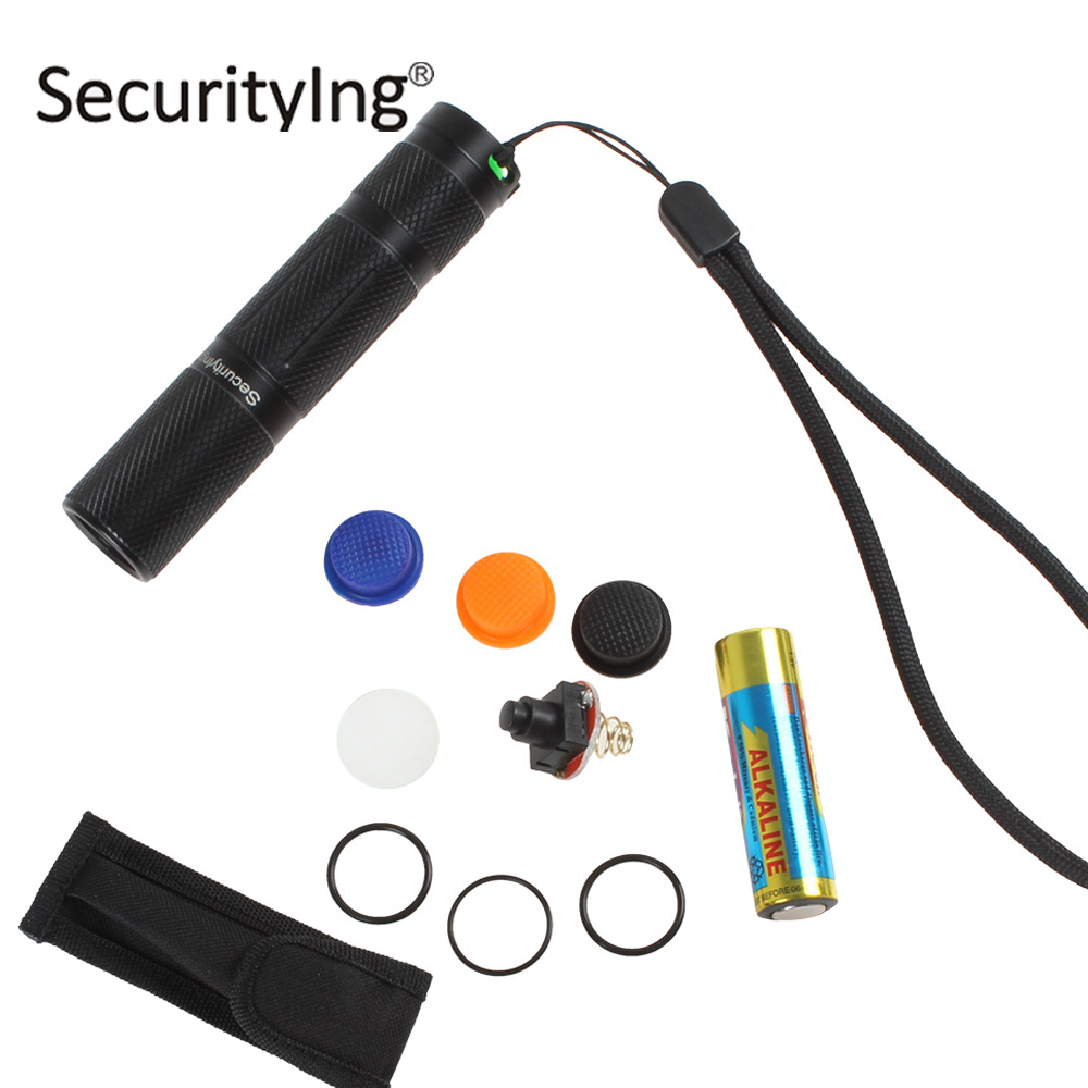 SecurityIng Professional Outdoor LED Flashlight Torch 5 Mode Mini Pocket Size XPG-R5 LED Flash Light Lamp with Memory Function professional torch