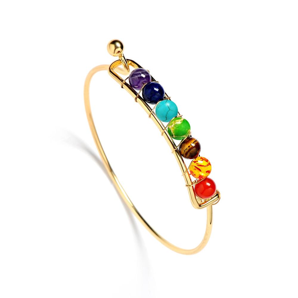 7 Chakra Bangle Bracelet 3