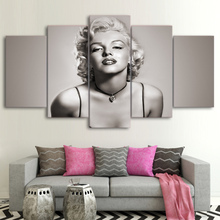 Marilyn Monroe 5 Posters Modular Paintings Canvas