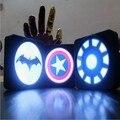 Новые Super Cool super heroes Бэтмен Капитан Америка Щит огни зарядное устройство power bank внешняя батарея Для IOS Android Телефоны